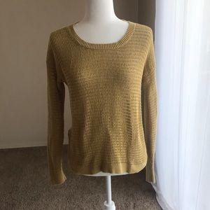 Madewell mustard sweater